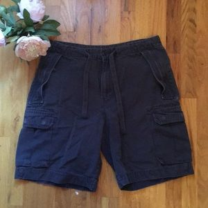 Dark Charcoal Gray Cargo Shorts